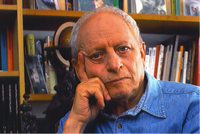 The author Aharon Megged, who immigrated to Israel from Poland at age 6. He passed away in March 2016.