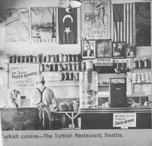 Photo of the interior of Cozy Corner restaurant, Washington State Jewish Historical Society