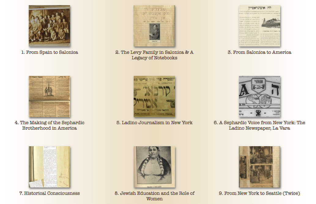 "Screenshot from ""Sephardic Lighthouse"" exhibit homepage, via the Stroum Center website."