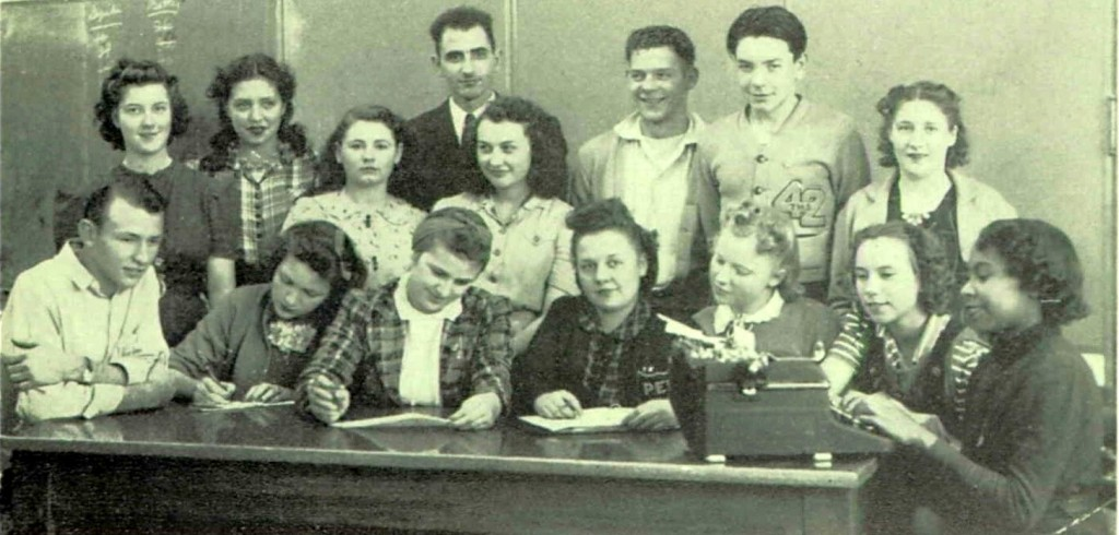 Mr. Albert Adatto with students at Adatto Toppenish High School in Yakima County, Washington, 1941