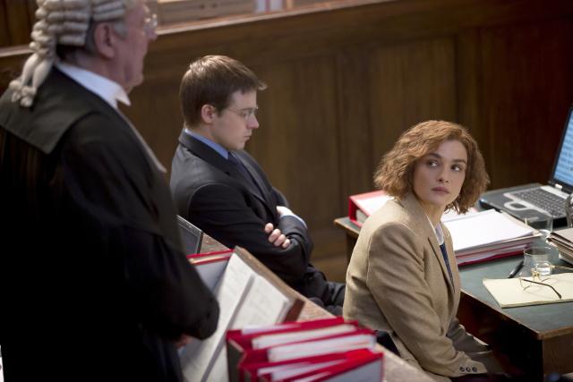 "Rachel Weisz as writer and historian Deborah E. Lipstadt in ""Denial."" Photo Credit: Laurie Sparham, Bleecker Street."