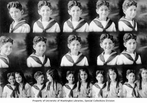 Albert and Emma Adatto as children in Seattle, Washington, ca 1910. (Courtesy of the WSJHS collection at the University of Washington Digital Collections)