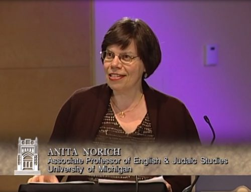 Anita Norich: Translating Yiddish in the 20th Century