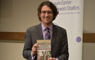 "Dr. Devin E. Naar at the official launch and celebration of ""Jewish Salonica,"" Nov. 3, 2016."