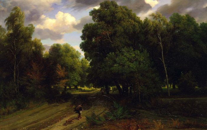 Forest painting by Charles François Daubigny