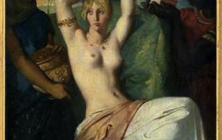 Théodore Chasseriau, Esther se parant Eugène Delacroix, Mariée juive à Tanger pour être présentée au roi Assuérus, 1841