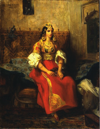Jewish woman wearing traditional Tangier clothing