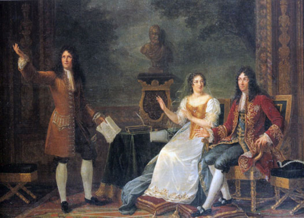 "Painting: ""Racine reads 'Athelie' for Louis the XUV and Madame de Maintenon"""
