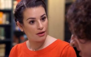 "Actress Lea Michele is surprised to learn about her family roots from Devin Naar on the season finale of the TLC channel's show ""Who Do You Think You Are?"""