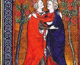 David and Jonathan embracing