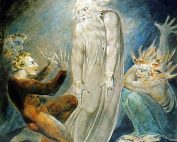William Blake's painting of Saul summoning the ghost of the prophet Samuel