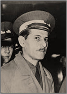 Portrait of Edward Barsky in uniform