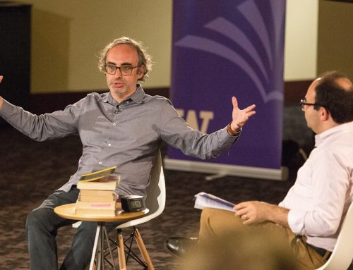 Video: Gary Shteyngart reflects on immigration, memory, and Russian Jews in 2018 Stroum Lectures