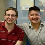 Graduate Fellows Sam Gordon and Pablo Jairo Tutillo Maldonado smiling