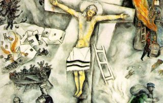 Chagall's Jesus on the cross