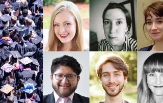 Collage showing 2019 graduates of Jewish studies