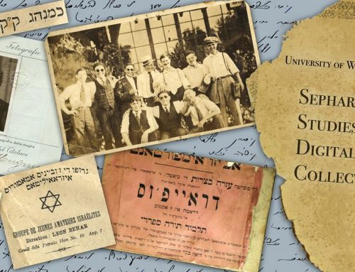 From the assistant director's desk: Updates on the Sephardic Studies Digital Collection