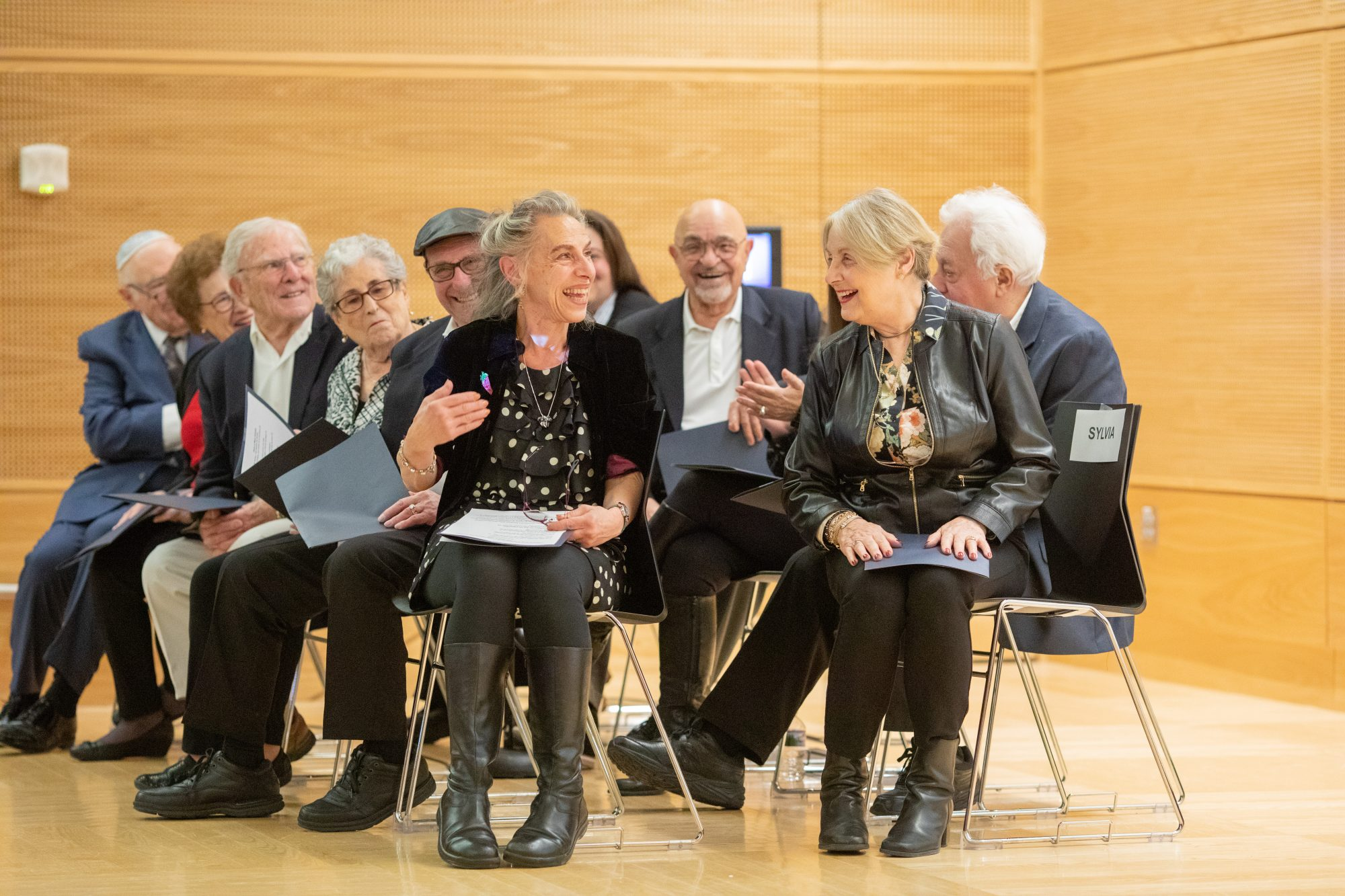 The Ladineros, a group of the last generation of Ladino speakers in Seattle, on stage at Ladino Day 2019 at the UW.