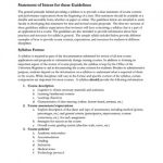 Screenshot of syllabus guidelines document