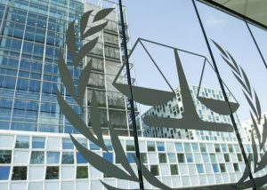 International criminal court and logo