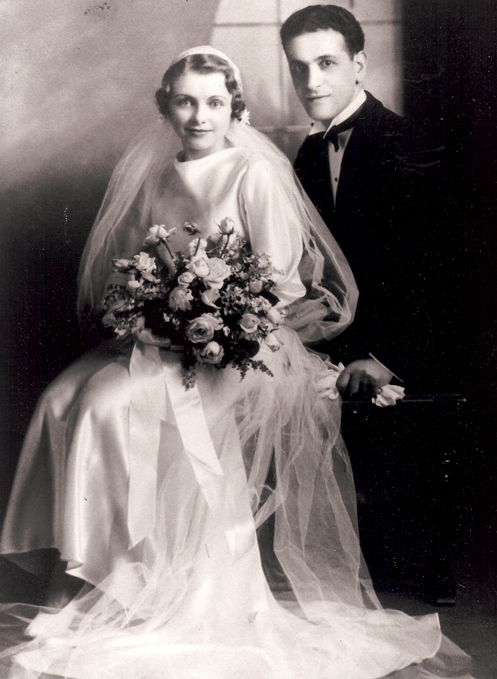 Sam and Betty Alhadeff wedding photo