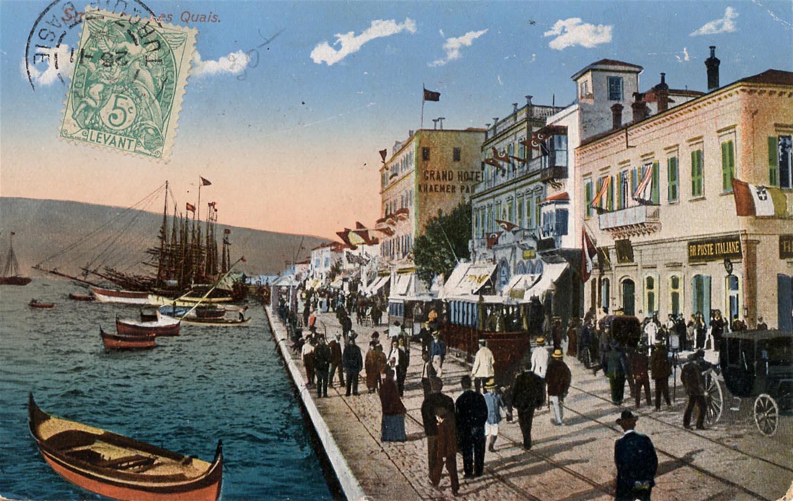 Postcard depicting Ottoman Izmir