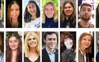 Collage of 2020 Jewish Studies graduate portraits
