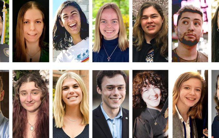 Collage of 2020 Jewish Studies graduate portraits