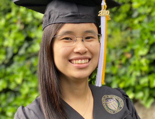 Senior Grace Dy wins the Stroum Center's first-ever Outstanding Student Award
