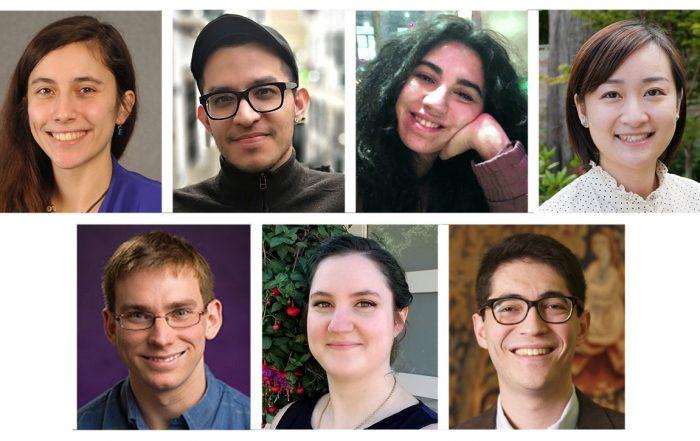 Collage of 2020-2021 graduate fellow portraits