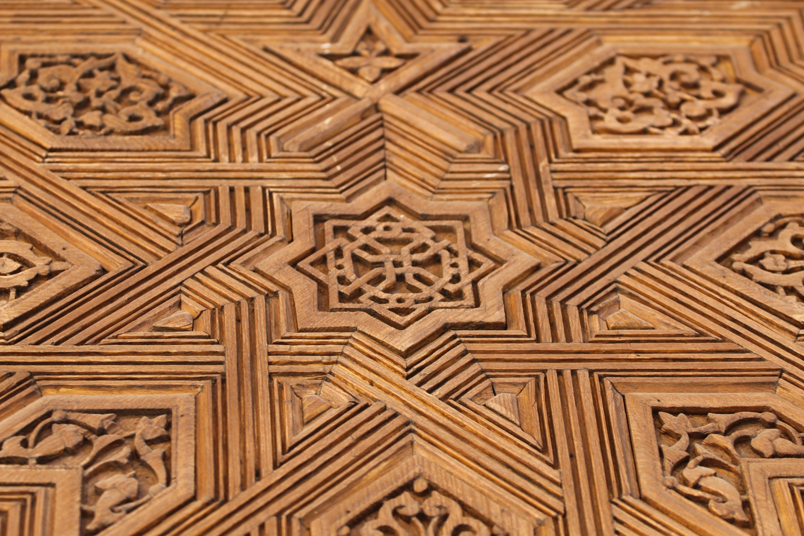 Moorish patterned woodwork.