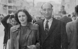 Angel's grandparents, David and Stella Angel, in Athens circa 1947.