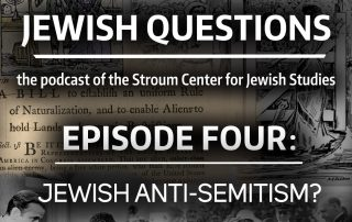 "Collage for episode 4 for the ""Jewish Questions"" podcast"