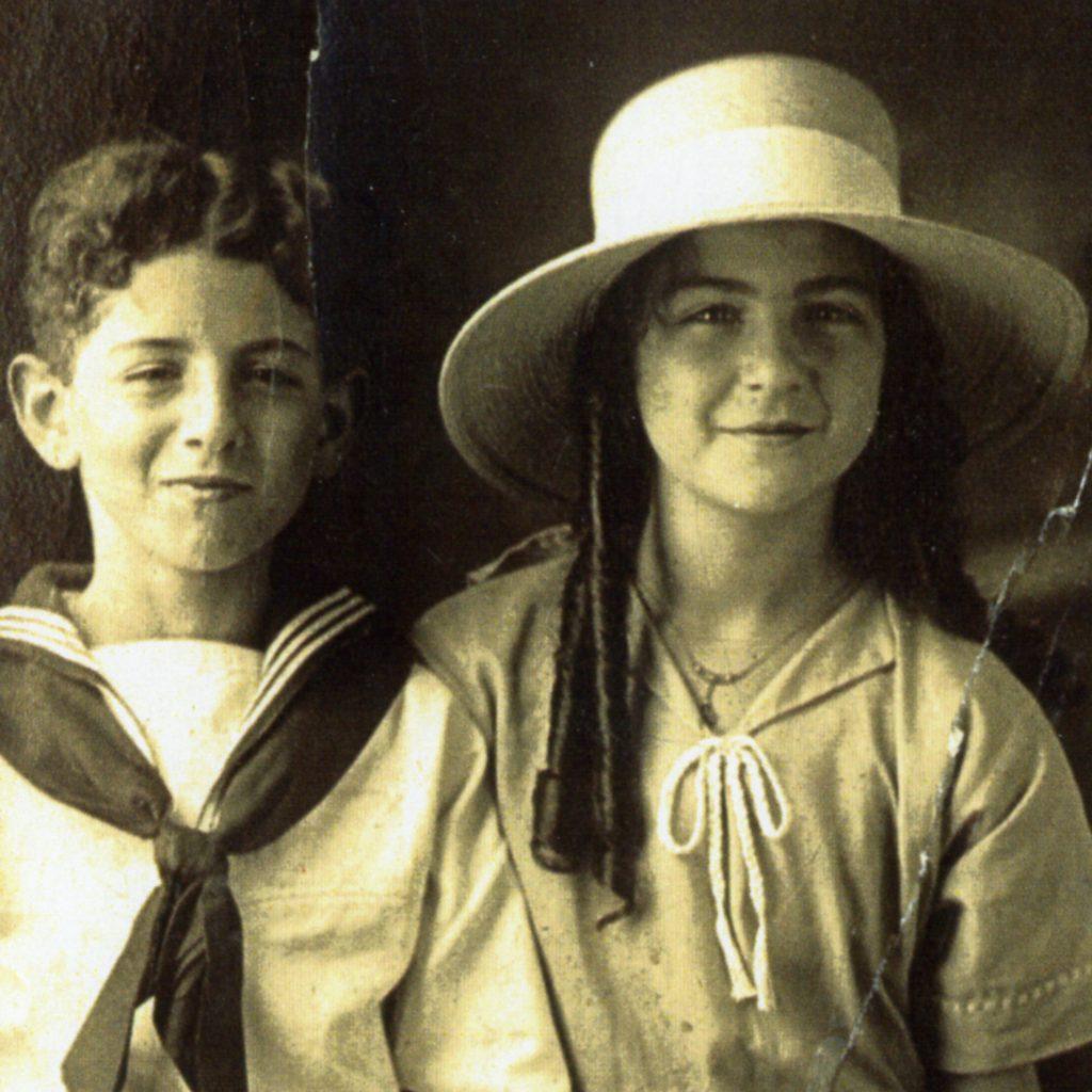 Studio portrait of of Albert and Emma Adatto Schlesinger.