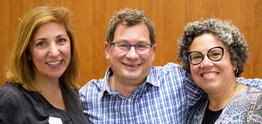 Picture of board members Jennifer Reibman and Jamie Merriman-Cohen with Chair Noam Pianko