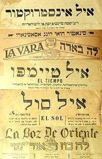 Mastheads from Ladino newspapers.