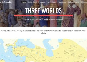 """Screencap of website homepage with """"Three Worlds"""" in the top banner"""