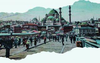 Postcard of Ottoman cityscape.