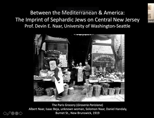 Between the Mediterranean & America: The History of Sephardic Jews and their Imprint on Central New Jersey | Highland Park Conservative Temple Congregation Anshe Emeth